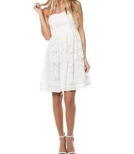 Vila Classico Corsage Dress Snow White