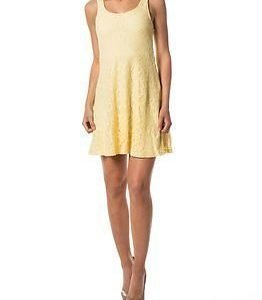Vila Flus Short Dress Pale Banana