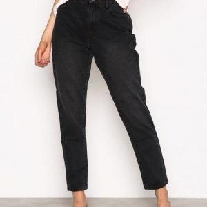 Vila Vikanma Hw 5p 7 / 8 Black Jeans Loose Fit Farkut Musta