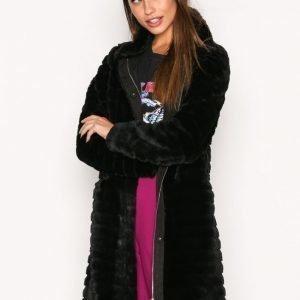 Vila Vimeria Faux Fur Coat / Gv Tekoturkki Musta
