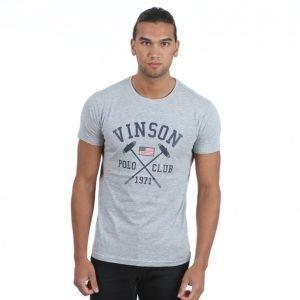 Vinson Polo Club Franco T-paita Harmaa