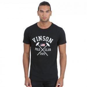 Vinson Polo Club Franco T-paita Musta