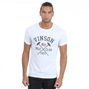 Vinson Polo Club Franco T-paita Valkoinen