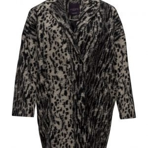 Violeta by Mango Animal Print Wool Coat villakangastakki