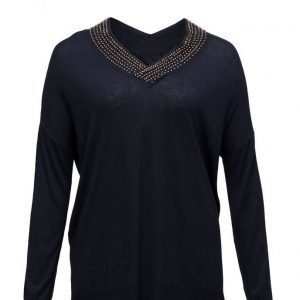Violeta by Mango Beaded Wool-Blend Sweater neulepusero