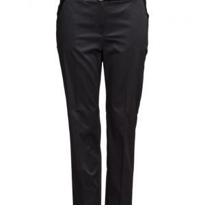 Violeta by Mango Belt Cotton-Blend Trousers suorat housut