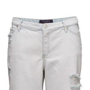Violeta by Mango Bleach Wash Denim Bermuda Shorts farkkushortsit