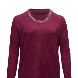 Violeta by Mango Chain Wool-Blend Sweater neulepusero