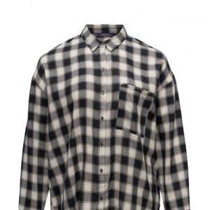 Violeta by Mango Check Cotton Shirt pitkähihainen paita