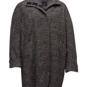 Violeta by Mango Check Wool-Blend Coat villakangastakki