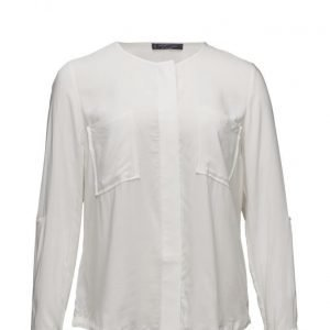 Violeta by Mango Chest-Pocket Flowy Blouse pitkähihainen pusero