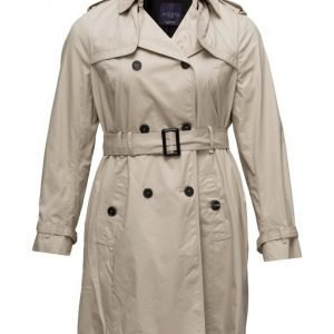 Violeta by Mango Classic Cotton Trench Coat trenssi