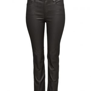 Violeta by Mango Coated Slim-Fit Carmen Jeans suorat housut