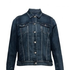 Violeta by Mango Dark Wash Denim Jacket farkkutakki