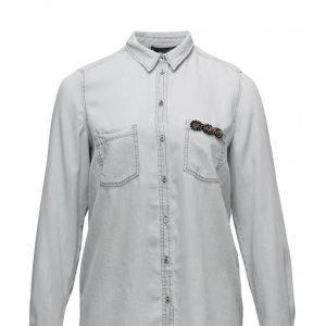 Violeta by Mango Denim Soft Shirt pitkähihainen paita