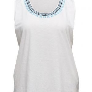 Violeta by Mango Embroidered Cotton Top