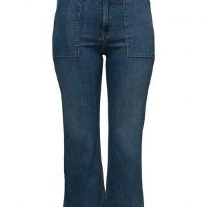 Violeta by Mango Flare Crop Dakota Jeans leveälahkeiset farkut