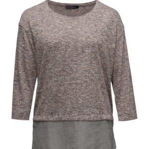 Violeta by Mango Flecked Contrast Hem T-Shirt neulepusero