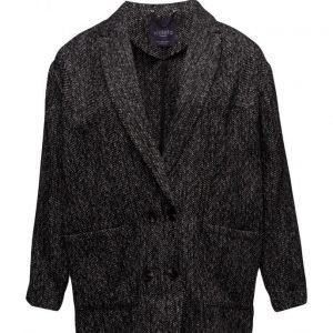 Violeta by Mango Flecked Wool-Blend Blazer bleiseri