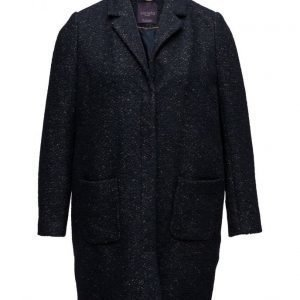 Violeta by Mango Flecked Wool-Blend Coat villakangastakki