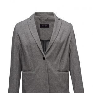 Violeta by Mango Herringbone-Pattern Cotton Blazer bleiseri