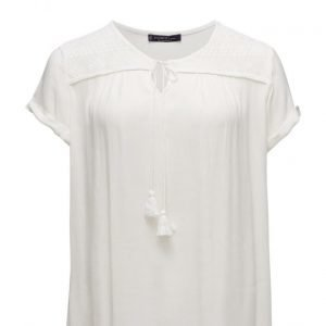 Violeta by Mango Lace Cotton T-Shirt lyhythihainen pusero