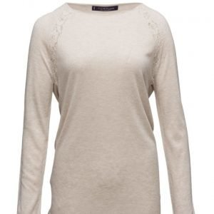 Violeta by Mango Lace Panels Sweater neulepusero