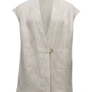 Violeta by Mango Linen Cotton-Blend Vest liivi