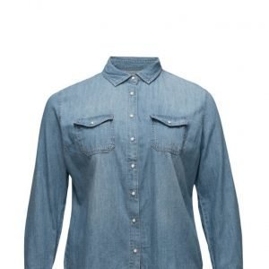 Violeta by Mango Medium Denim Shirt pitkähihainen paita