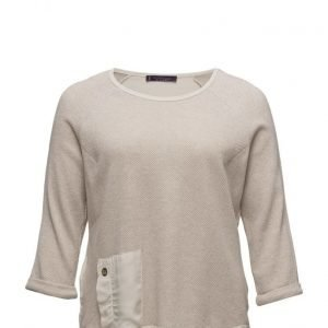 Violeta by Mango Metallic Cotton-Blend Sweatshirt svetari