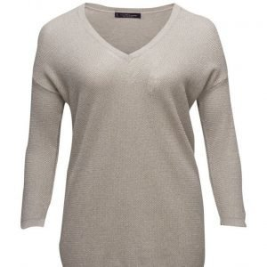 Violeta by Mango Metallic Wool-Blend Sweater neulepusero
