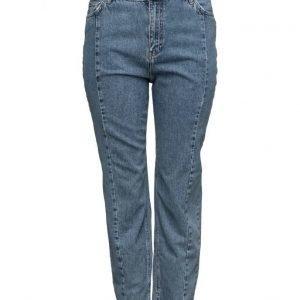 Violeta by Mango Mom-Fit Desi Jeans suorat farkut