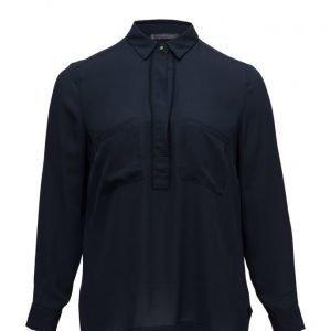 Violeta by Mango Pockets Flowy Shirt pitkähihainen pusero