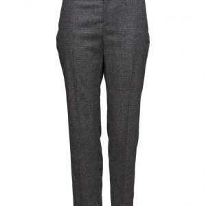 Violeta by Mango Prince Of Wales Wool-Blend Trousers suorat housut