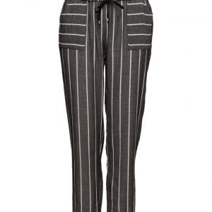 Violeta by Mango Striped Cotton Trousers leveälahkeiset housut