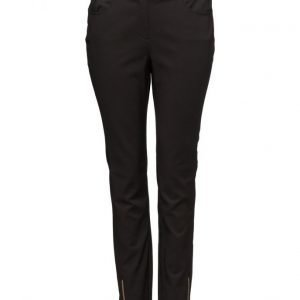 Violeta by Mango Zip Cotton Trousers skinny housut