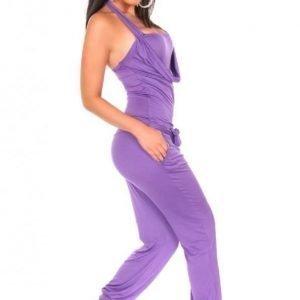 Violetti halterneck-jumpsuit