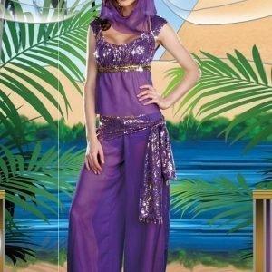 Violetti itämaisen tanssijattaren rooliasu