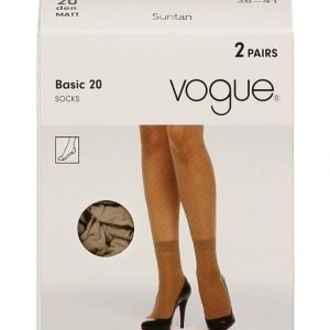 Vogue Basic 20 Den Nilkkasukat 2-Pack