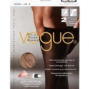 Vogue Plus Size Knee 20 Den Polvisukat 2-Pack