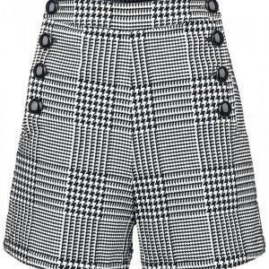 Voodoo Vixen Button Skirt Black/White Naisten Shortsit
