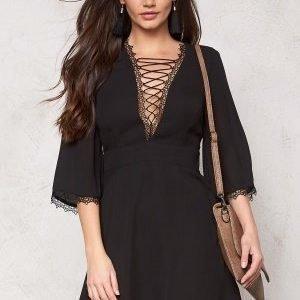 WYLDR Cardinia chiffon dress Black