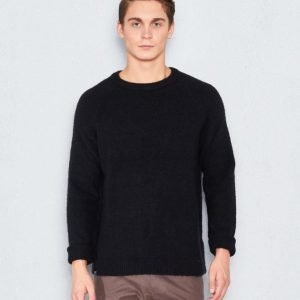 WeSC Aaron L/s knit black