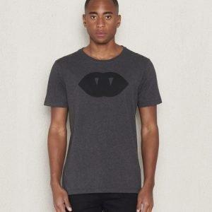 WeSC Bem s/s t-shirt charcoal melange