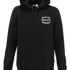 WeSC Brian hood sweatshirt Black