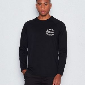WeSC Byron l/s polo shirt black