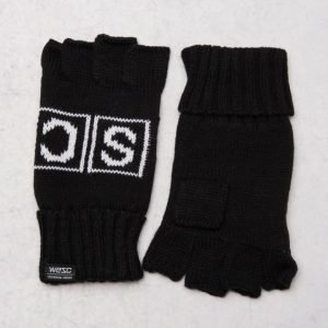 WeSC Kiril cut-off gloves black