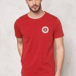 WeSC Monroe s/s T-shirt Pompeian Red