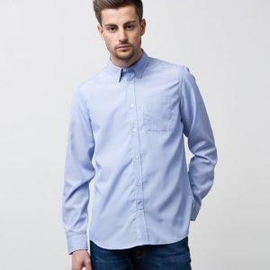 WeSC Nadim Stripe L/S Greek Blue