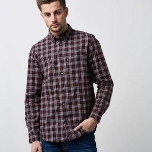 WeSC Nicky L/S Shirt Dark Chestnut
